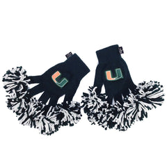 Miami Hurricanes NCAA Spirit Fingerz Cheerleading Pom-Pom Gloves