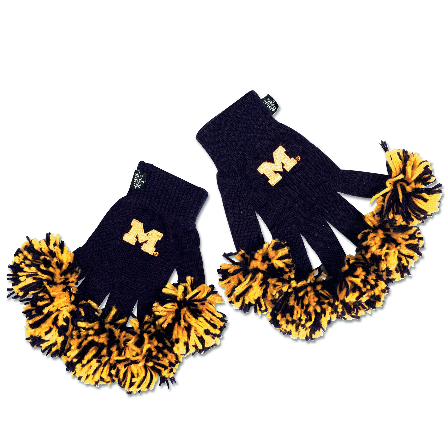Michigan Wolverines NCAA Spirit Fingerz Cheerleading Pom-Pom Gloves