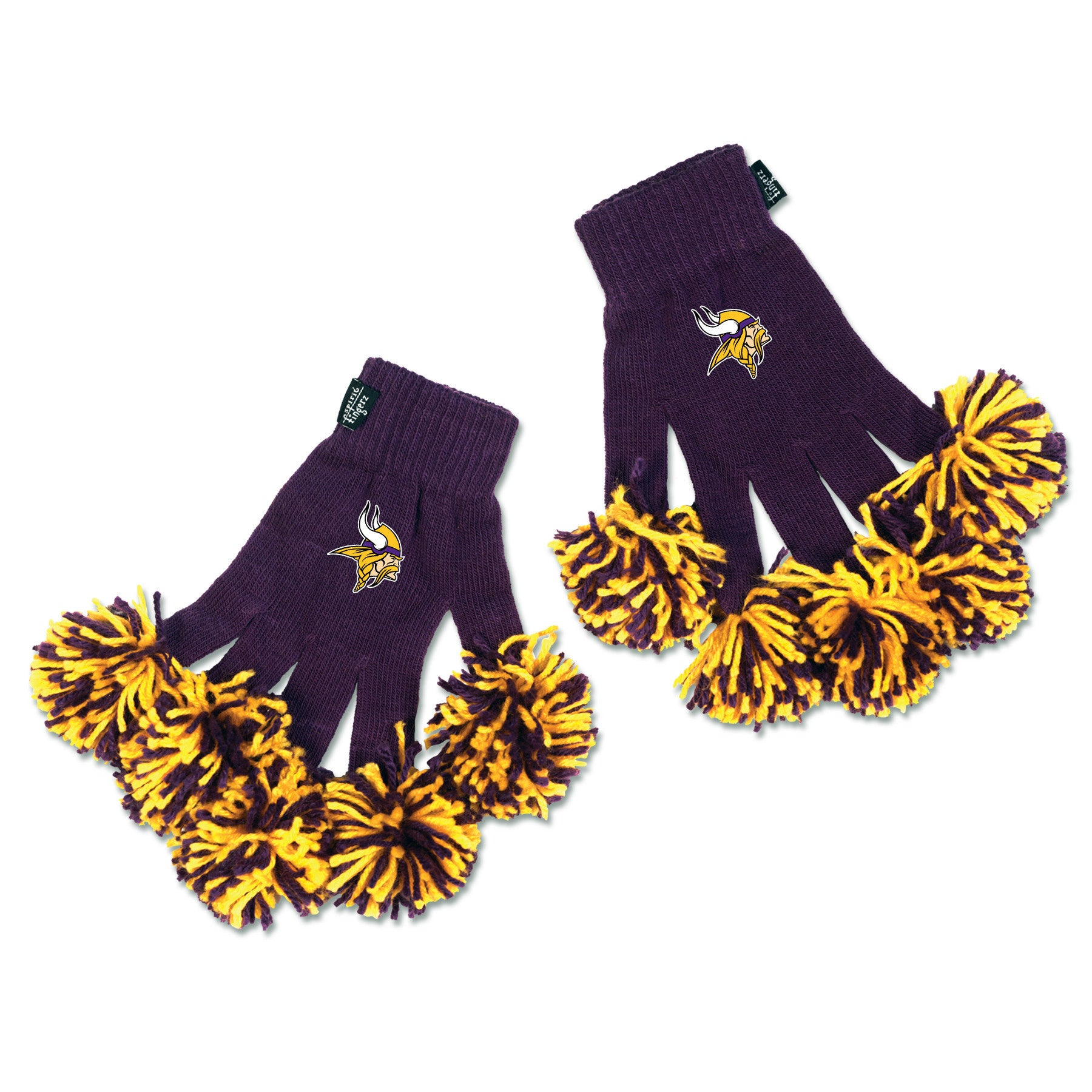 Minnesota Vikings NFL Spirit Fingerz Cheerleading Pom-Pom Gloves