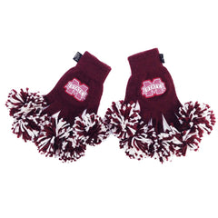 Mississippi State Bulldogs NCAA Spirit Fingerz Cheerleading Pom-Pom Gloves