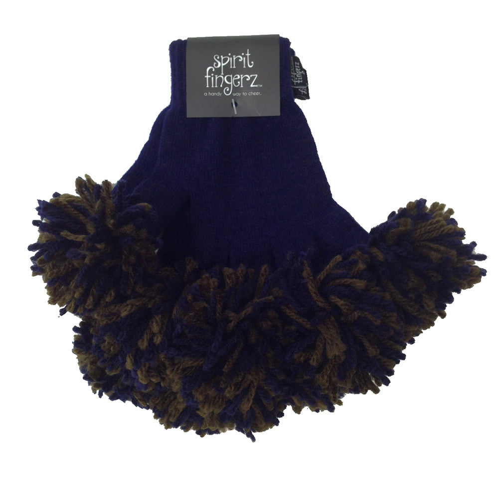 Navy & Espresso Spirit Fingerz Cheerleading Pom-Pom Gloves