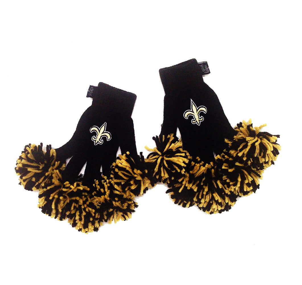 New Orleans Saints NFL Spirit Fingerz Cheerleading Pom-Pom Gloves