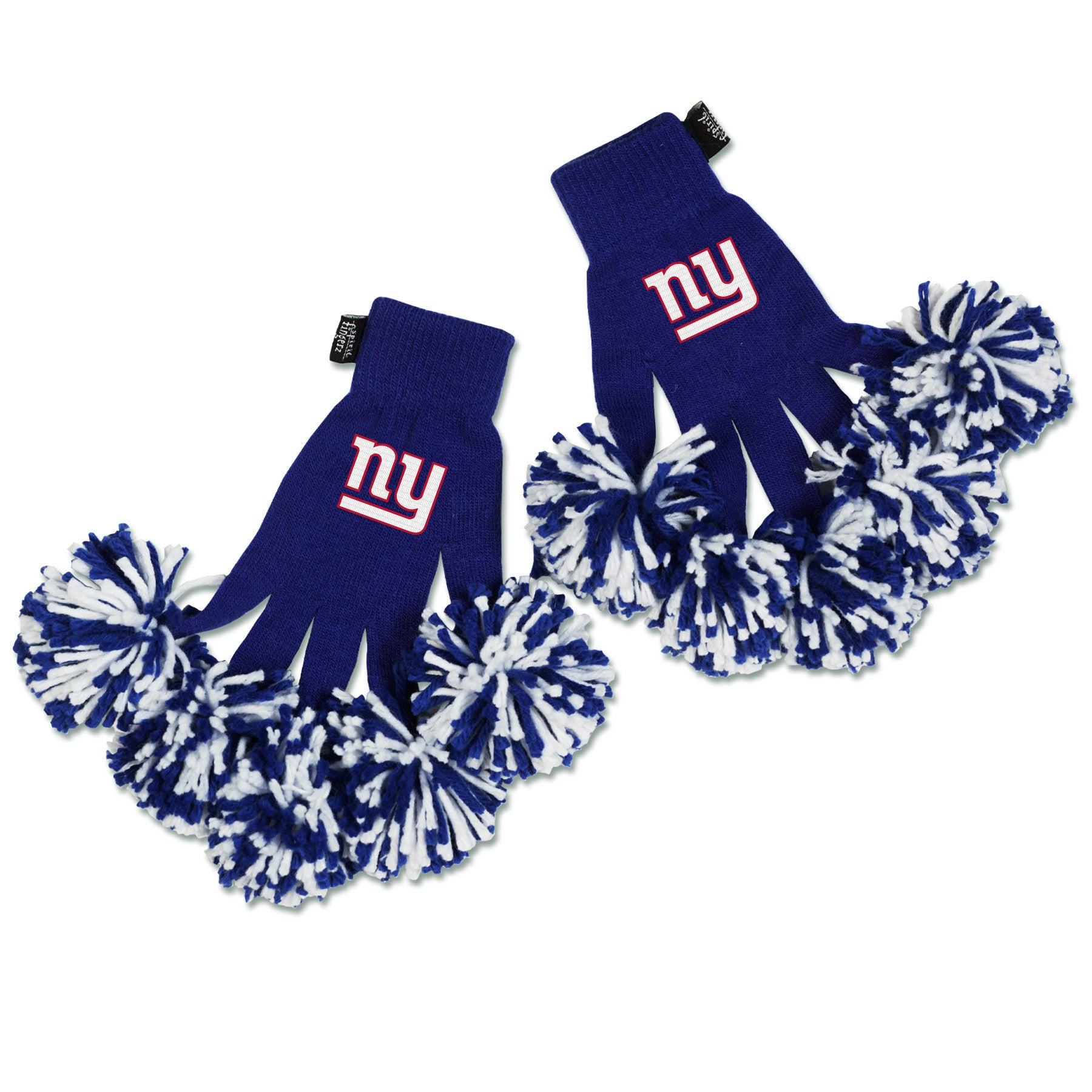 New York Giants NFL Spirit Fingerz Cheerleading Pom-Pom Gloves