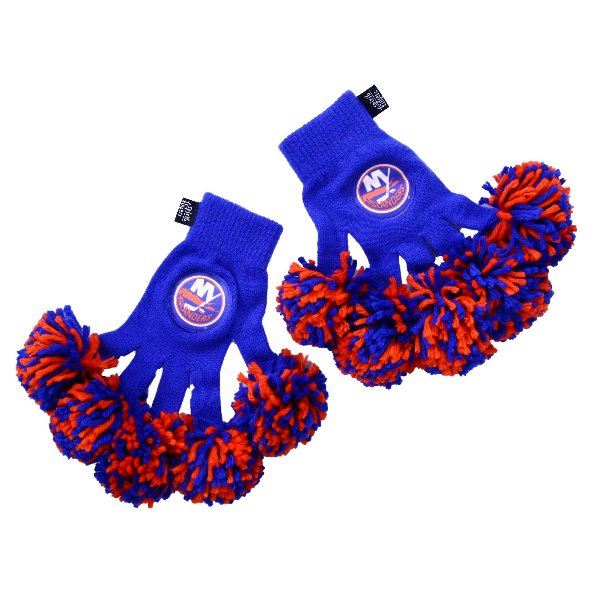 New York Islanders NHL Spirit Fingerz Cheerleading Pom-Pom Gloves