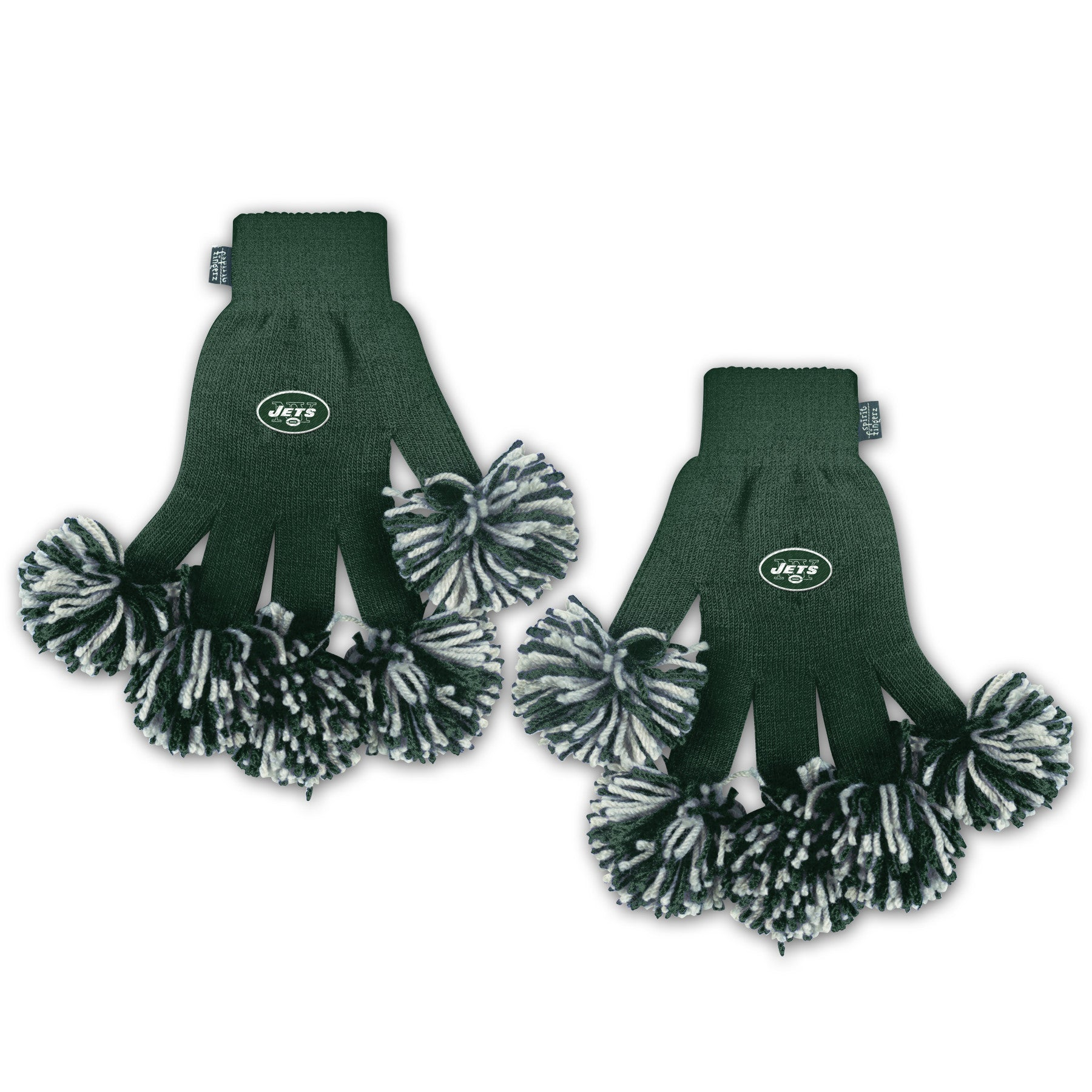 New York Jets NFL Spirit Fingerz Cheerleading Pom-Pom Gloves