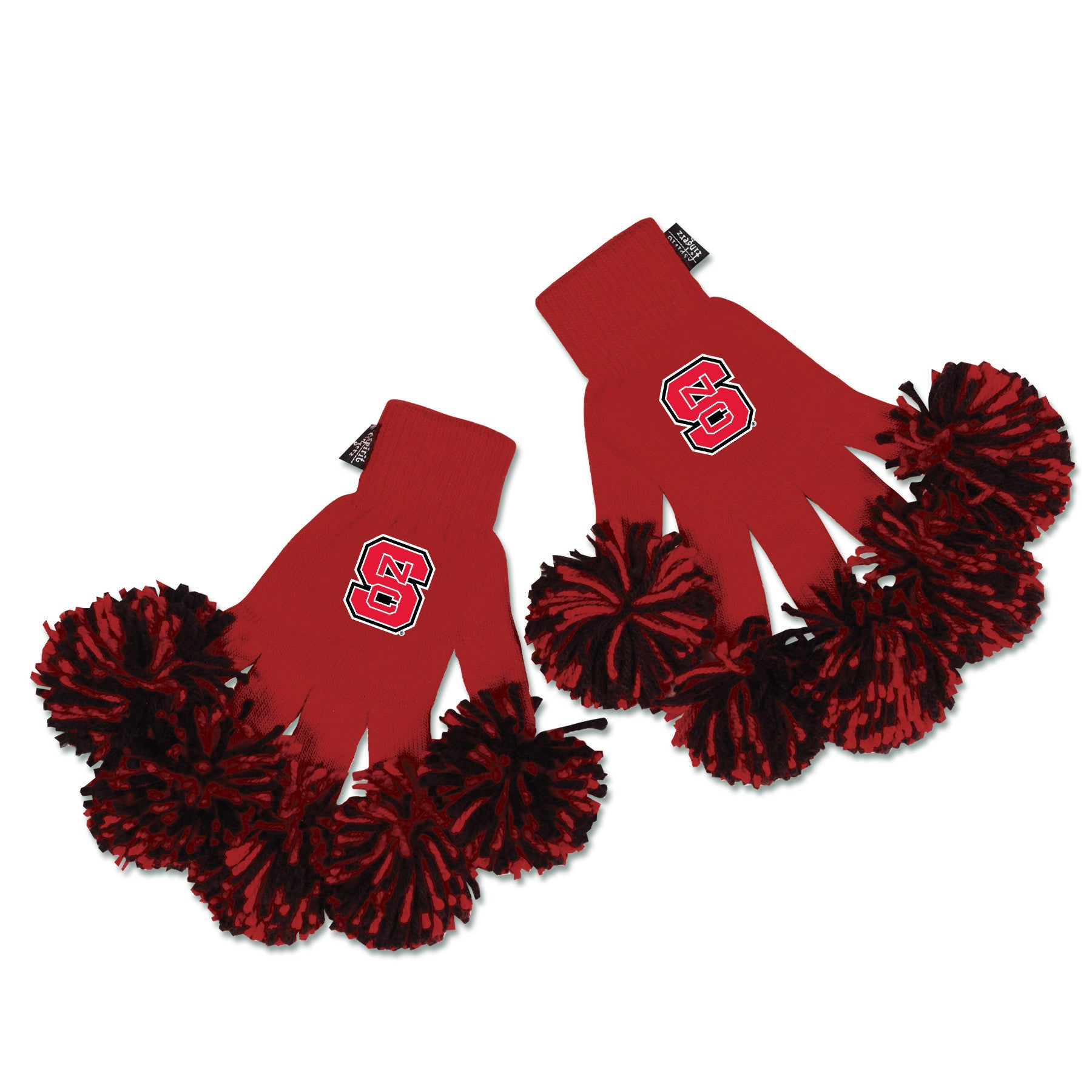 North Carolina State Wolfpack NCAA Spirit Fingerz Cheerleading Pom-Pom Gloves