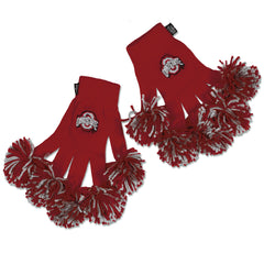 Ohio State University Buckeyes NCAA Spirit Fingerz Cheerleading Pom-Pom Gloves