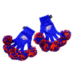 Oklahoma City Thunder NBA Spirit Fingerz Cheerleading Pom-Pom Gloves