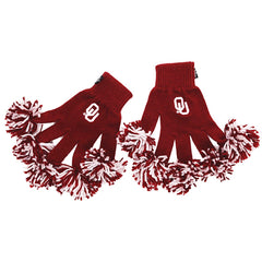 Oklahoma Sooners NCAA Spirit Fingerz Cheerleading Pom-Pom Gloves