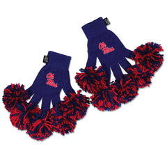 Ole Miss Rebels NCAA Spirit Fingerz Cheerleading Pom-Pom Gloves