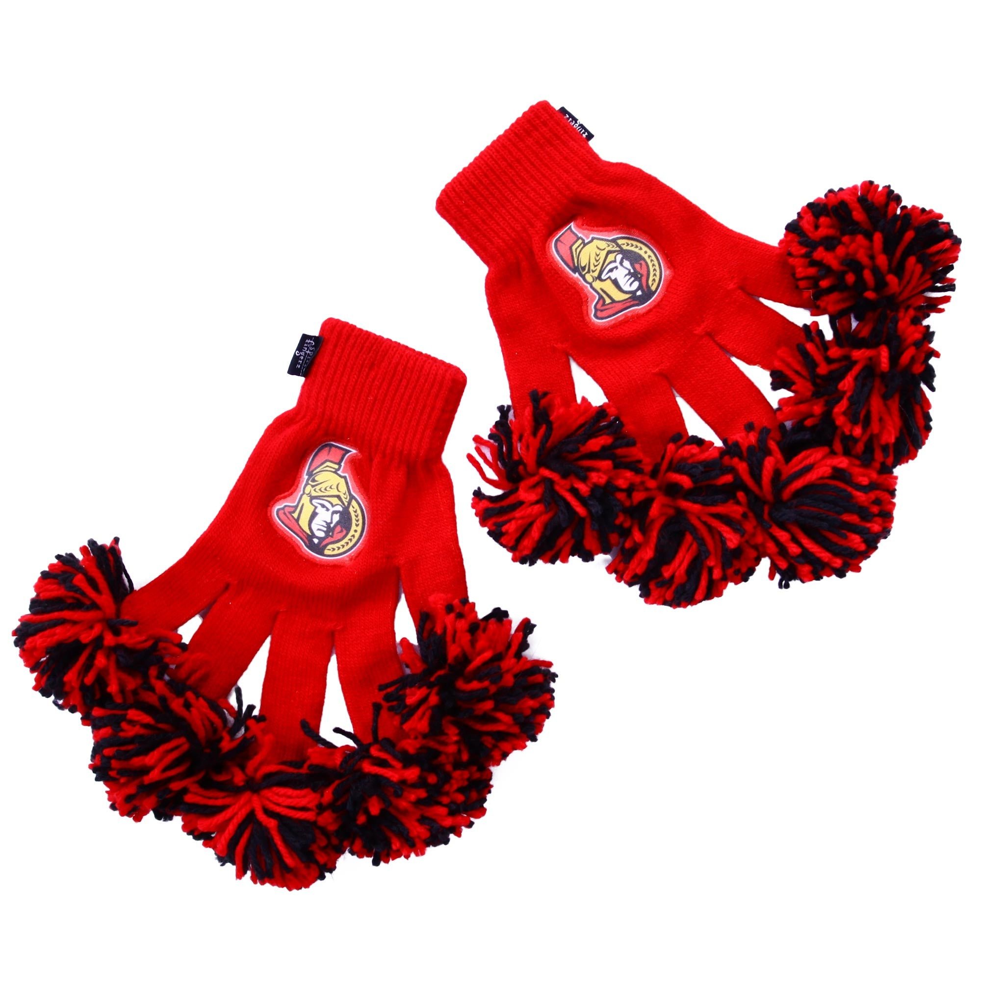 Ottawa Senators NHL Spirit Fingerz Cheerleading Pom-Pom Gloves
