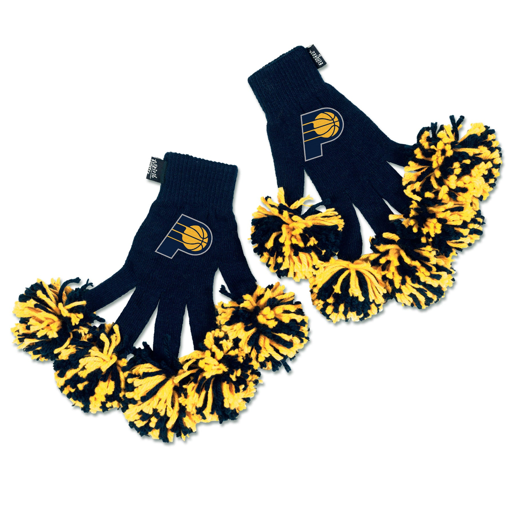 Indiana Pacers NBA Spirit Fingerz Cheerleading Pom-Pom Gloves