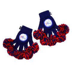 Philadelphia 76ers NBA Spirit Fingerz Cheerleading Pom-Pom Gloves
