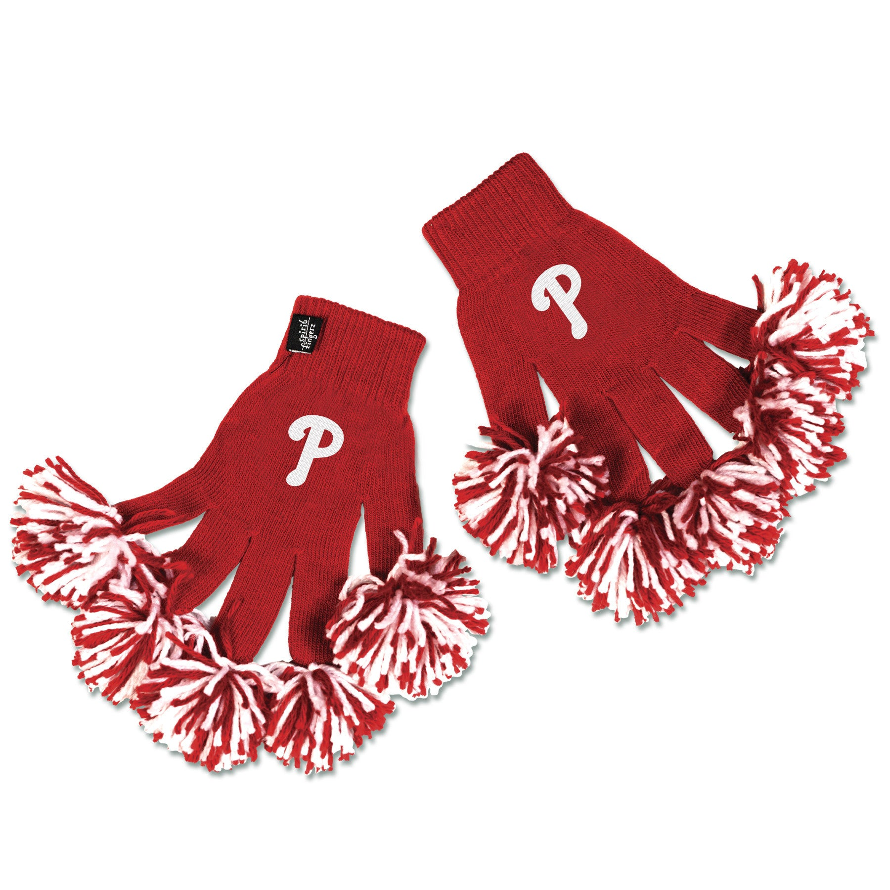 Philadelphia Phillies MLB Spirit Fingerz Cheerleading Pom-Pom Gloves