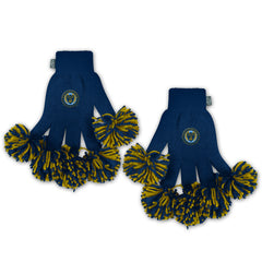 Philadelphia Union MLS Spirit Fingerz Cheerleading Pom-Pom Gloves