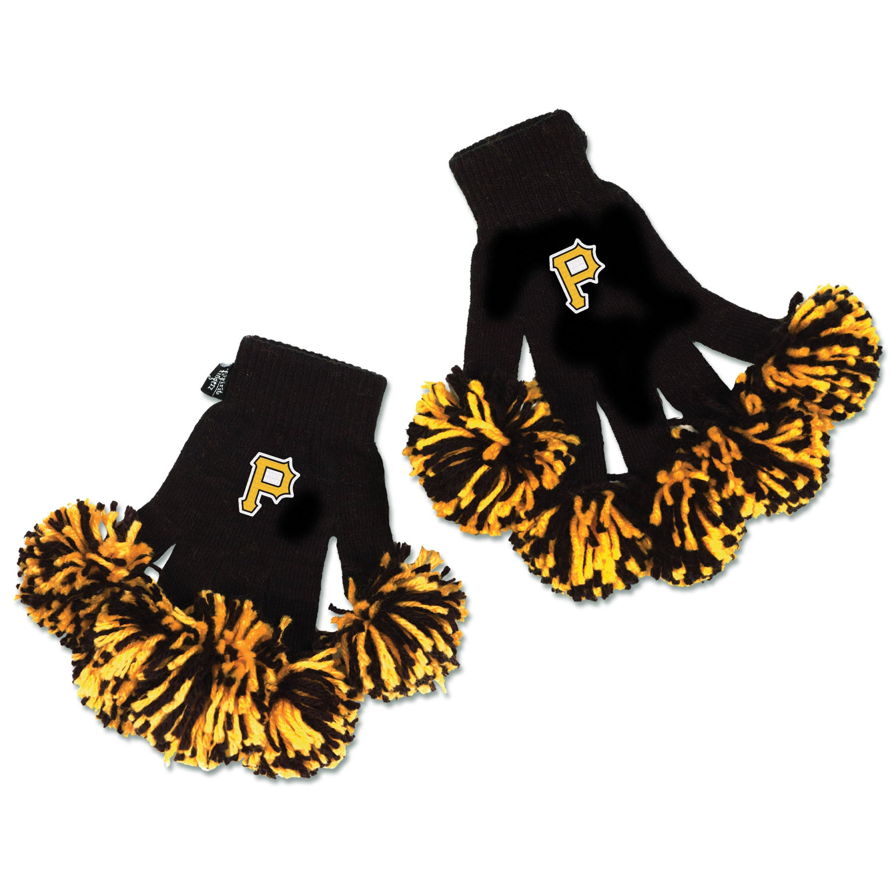 Pittsburgh Pirates MLB Spirit Fingerz Cheerleading Pom-Pom Gloves