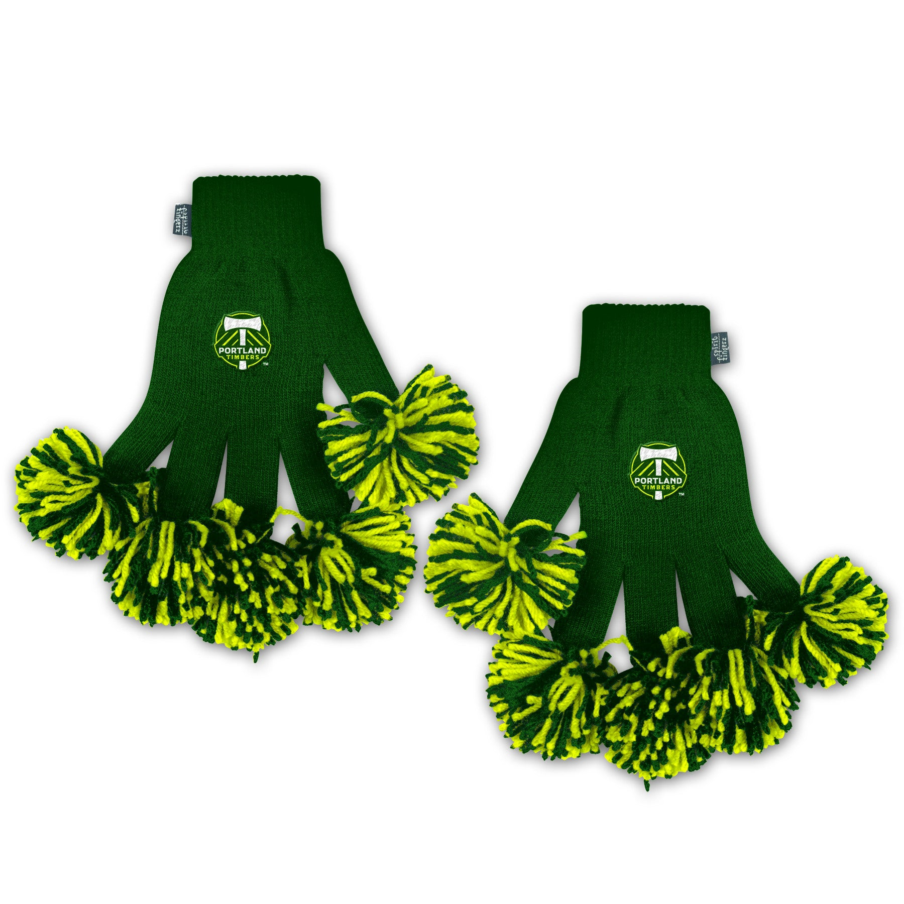 Portland Timbers MLS Spirit Fingerz Cheerleading Pom-Pom Gloves
