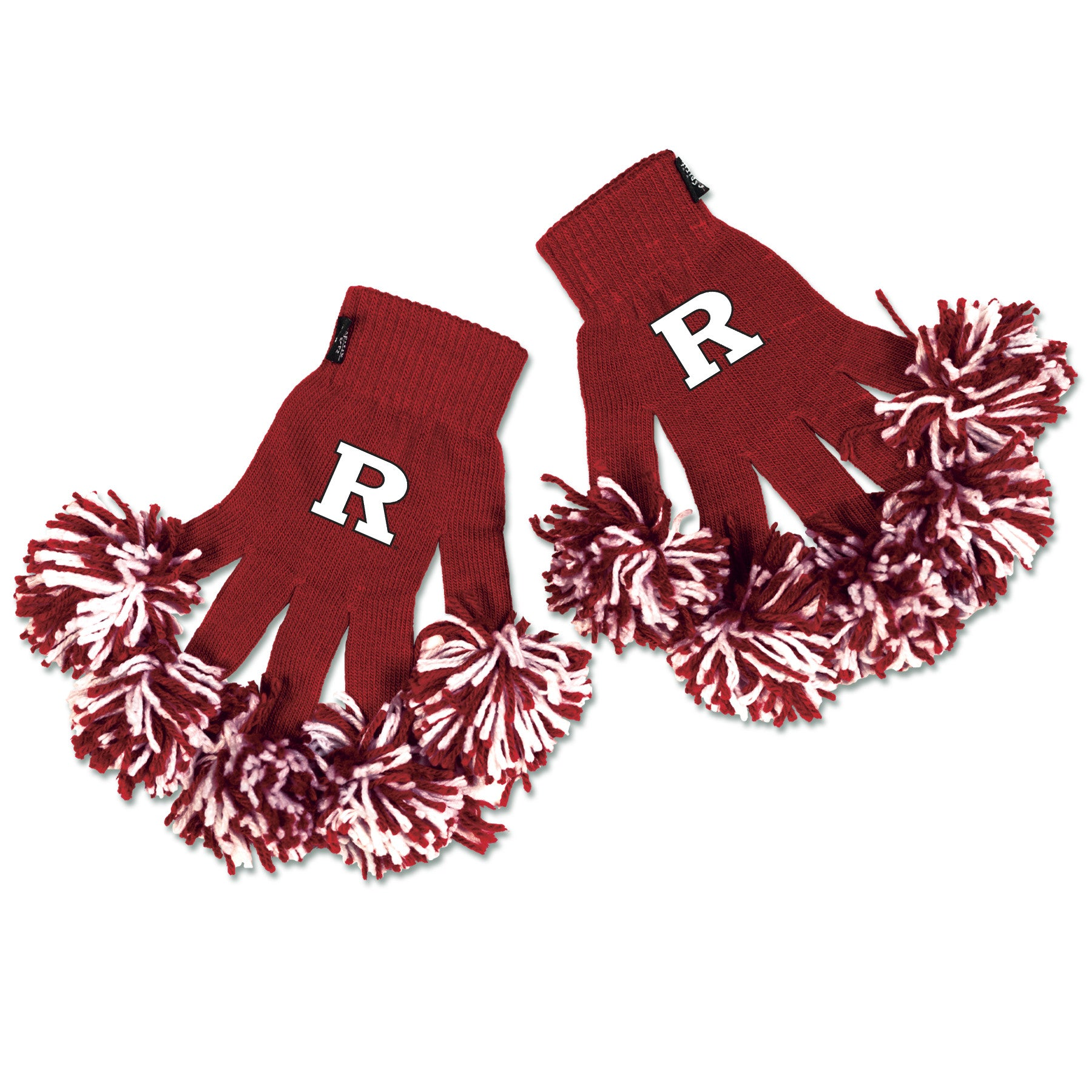 Rutgers Scarlet Knights NCAA Spirit Fingerz Cheerleading Pom-Pom Gloves