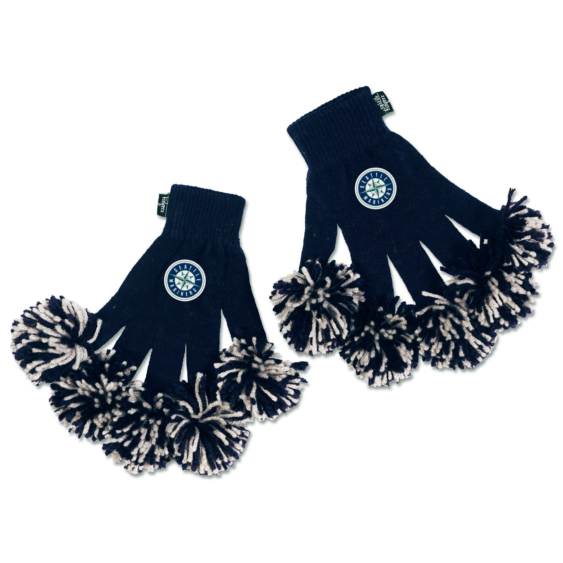 Seattle Mariners MLB Spirit Fingerz Cheerleading Pom-Pom Gloves