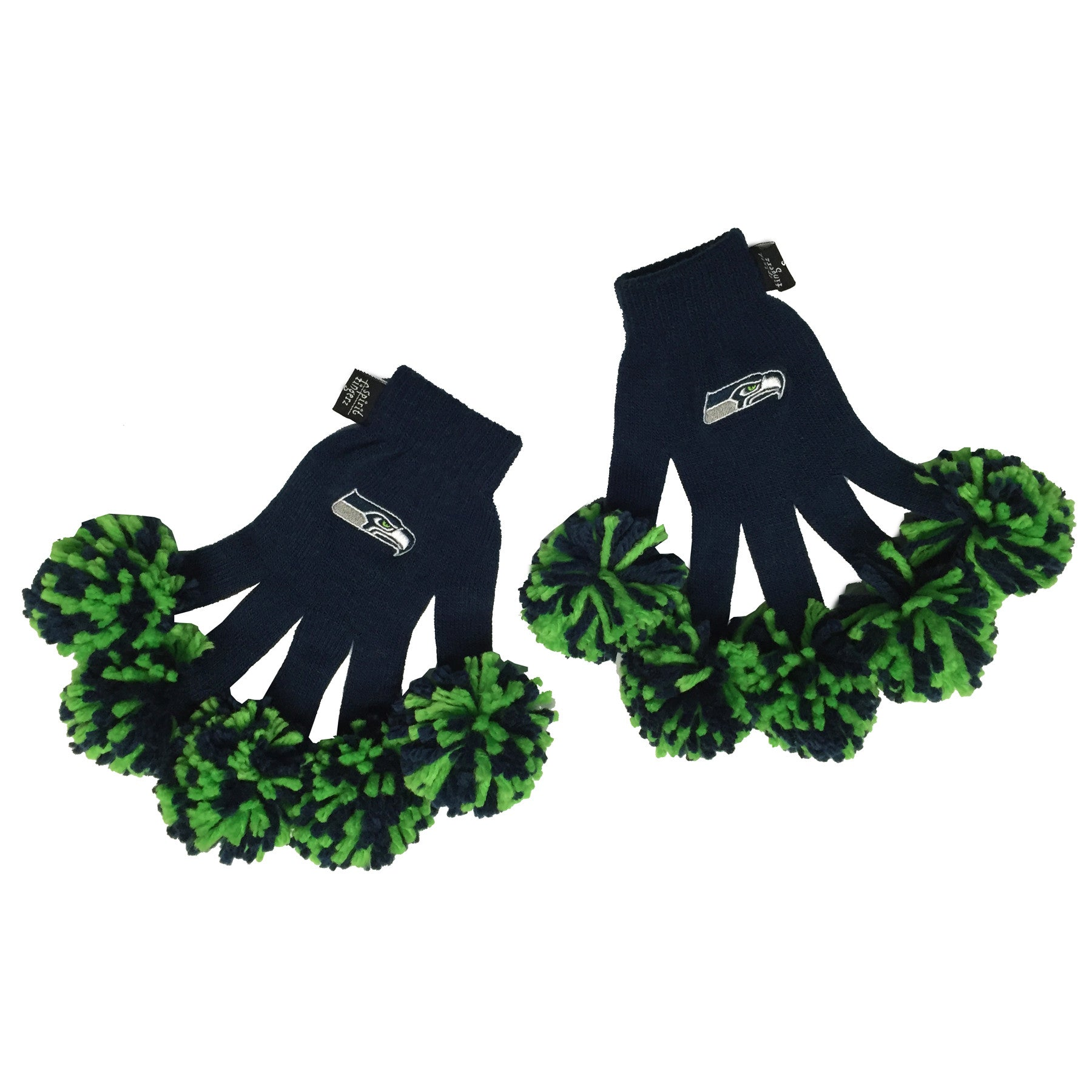 Seattle Seahawks NFL Spirit Fingerz Cheerleading Pom-Pom Gloves