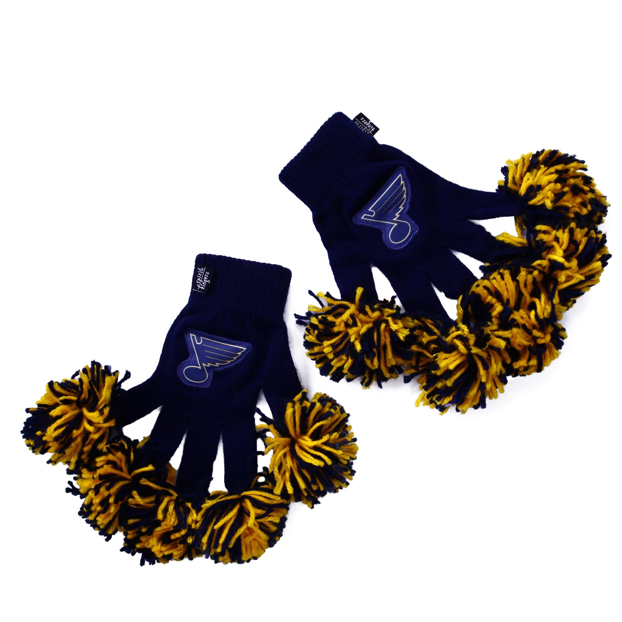 St. Louis Blues NHL Spirit Fingerz Cheerleading Pom-Pom Gloves