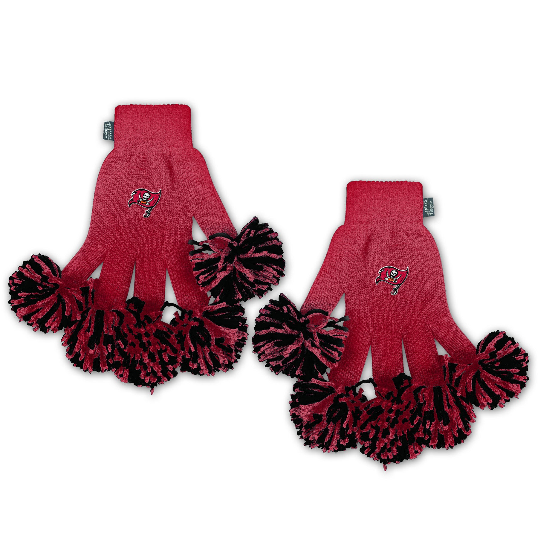 Tampa Bay Buccaneers NFL Spirit Fingerz Cheerleading Pom-Pom Gloves