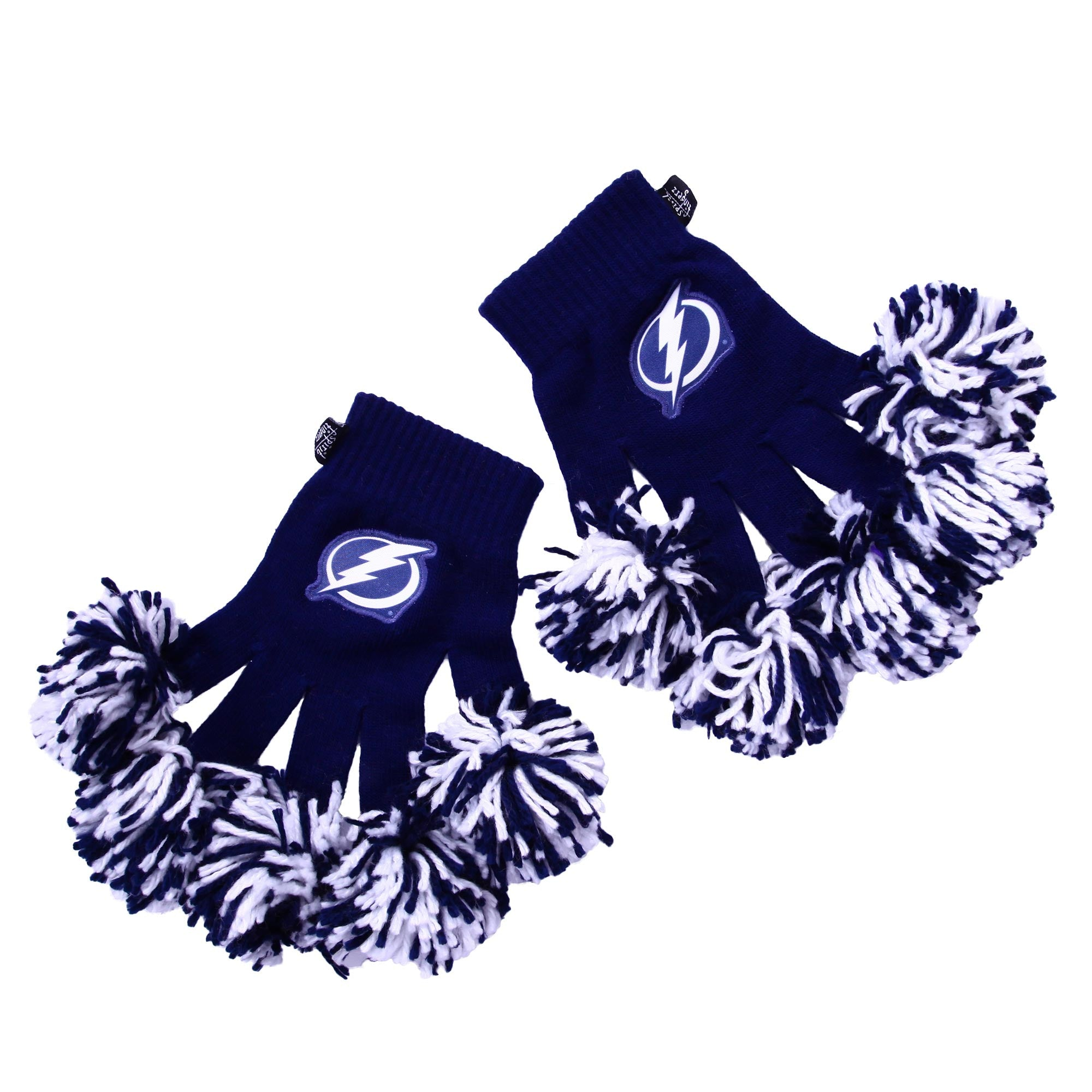 Tampa Bay Lightning NHL Spirit Fingerz Cheerleading Pom-Pom Gloves