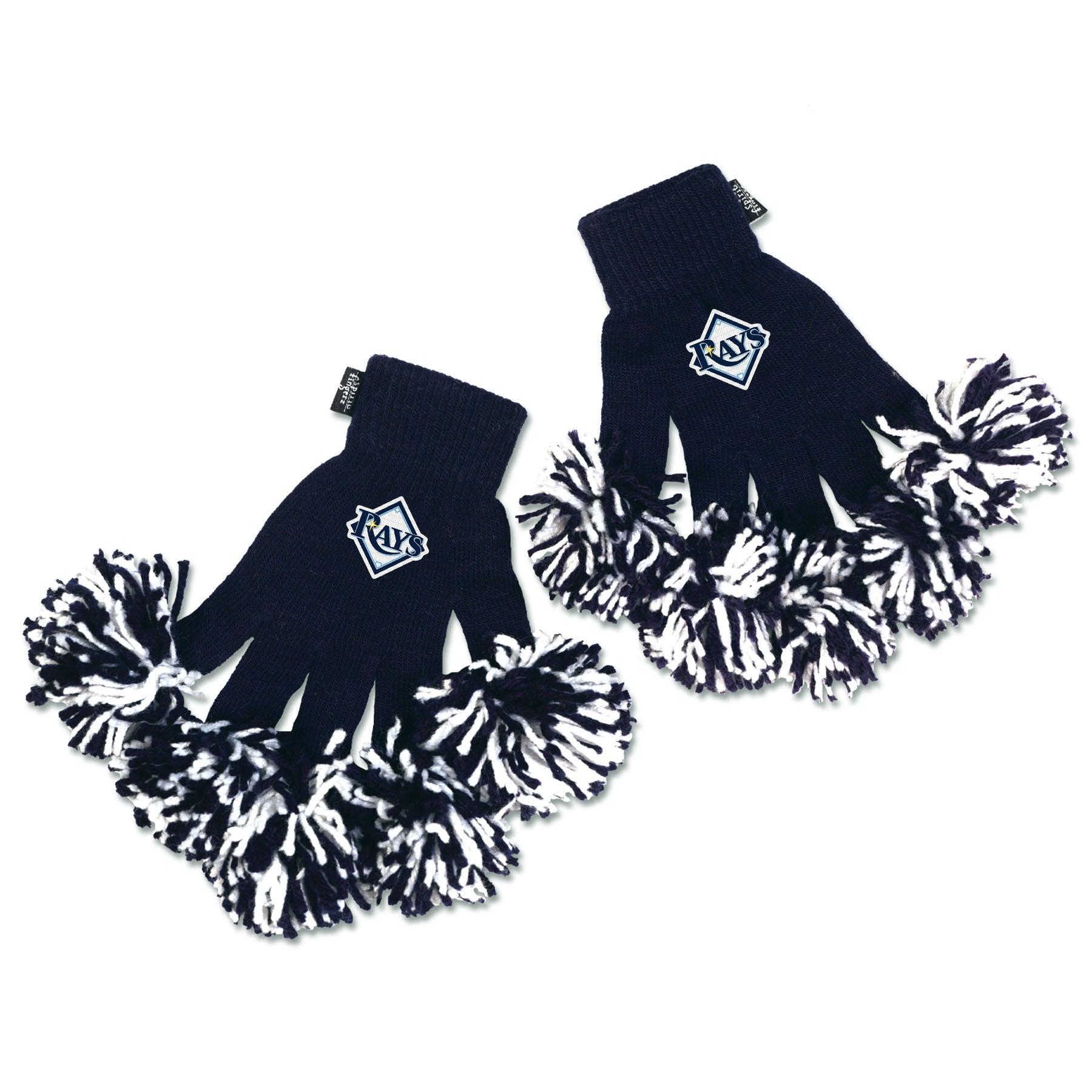 Tampa Bay Rays MLB Spirit Fingerz Cheerleading Pom-Pom Gloves