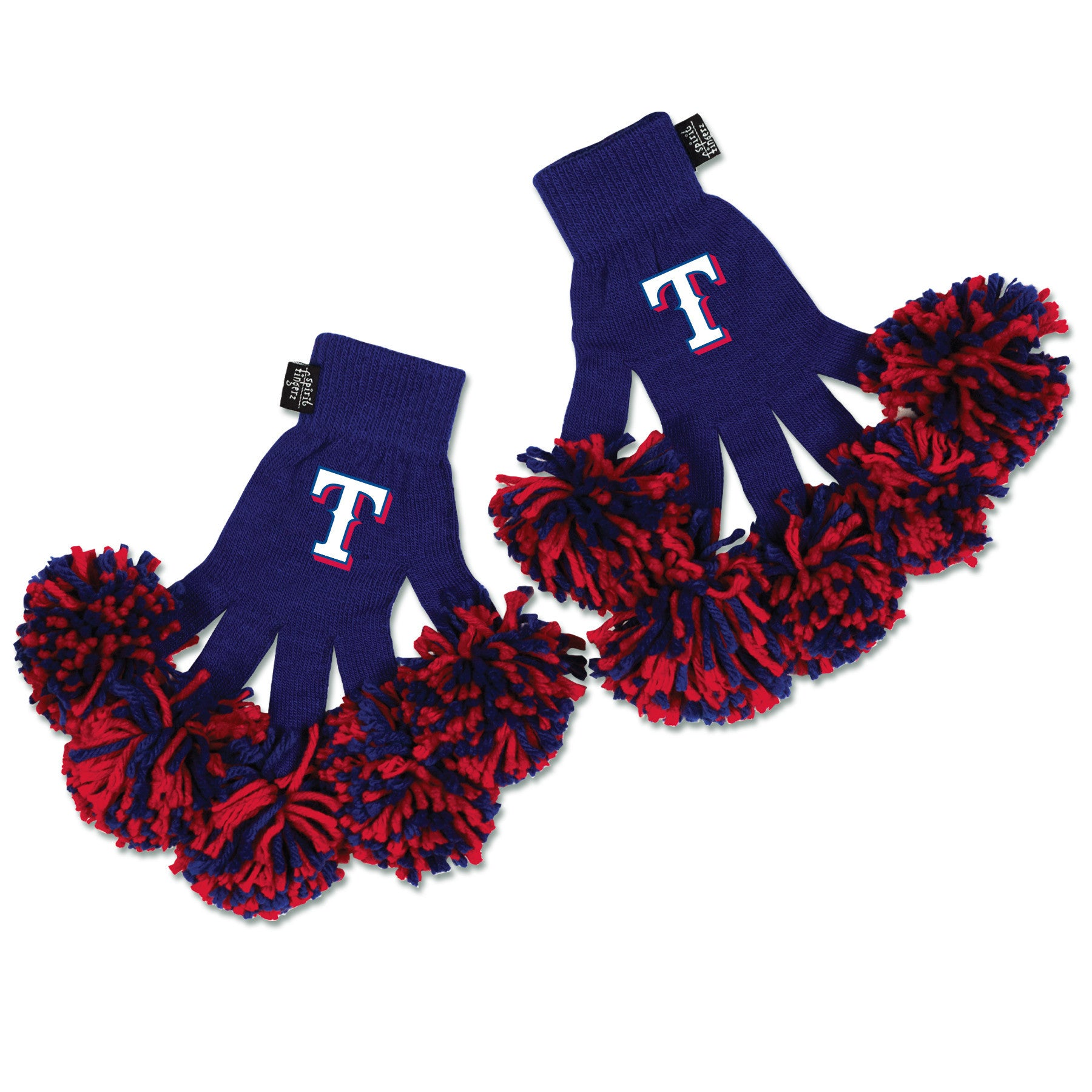 Texas Rangers MLB Spirit Fingerz Cheerleading Pom-Pom Gloves