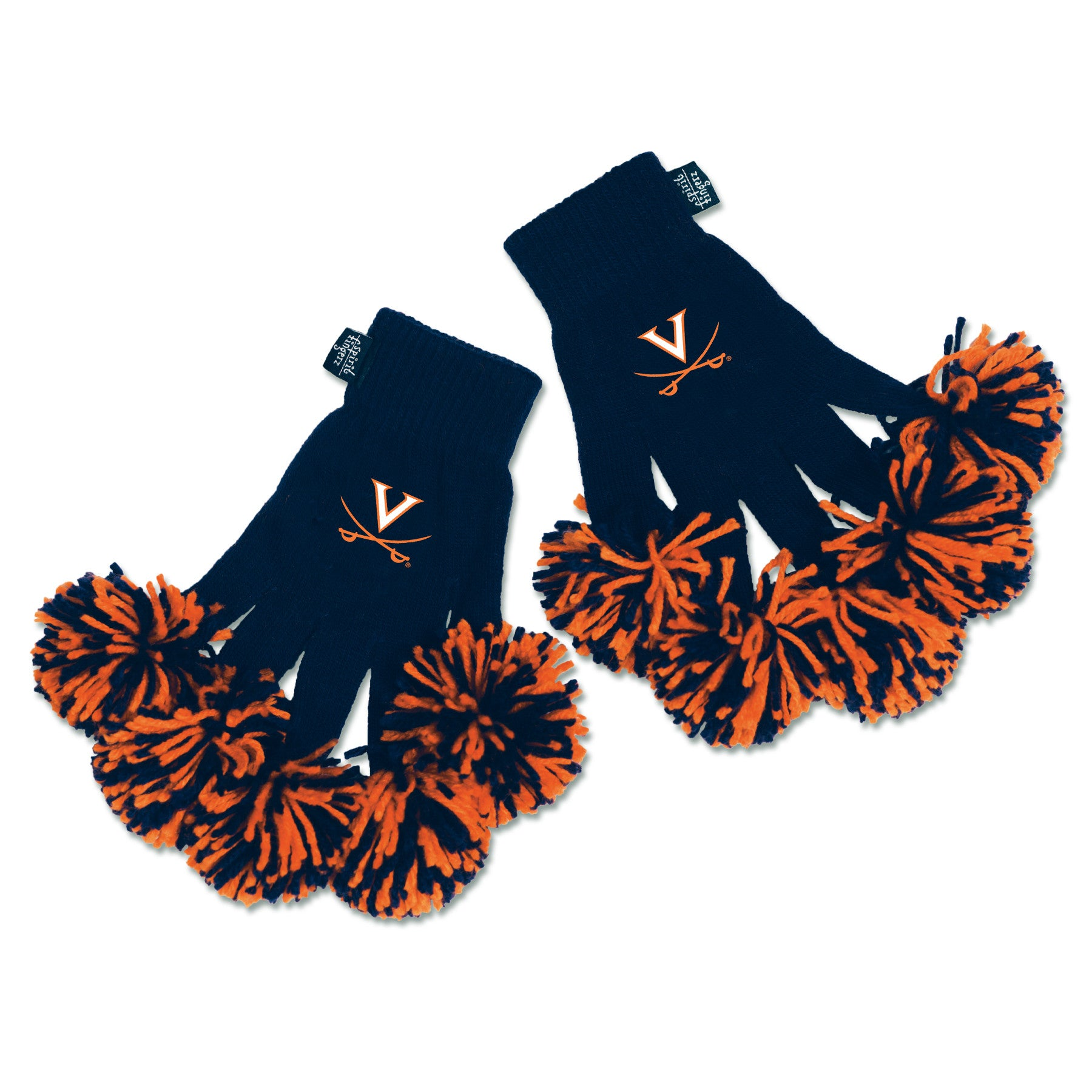 Virginia Cavaliers NCAA Spirit Fingerz Cheerleading Pom-Pom Gloves