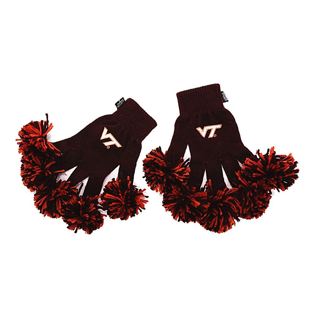 Virginia Tech Hokies NCAA Spirit Fingerz Cheerleading Pom-Pom Gloves