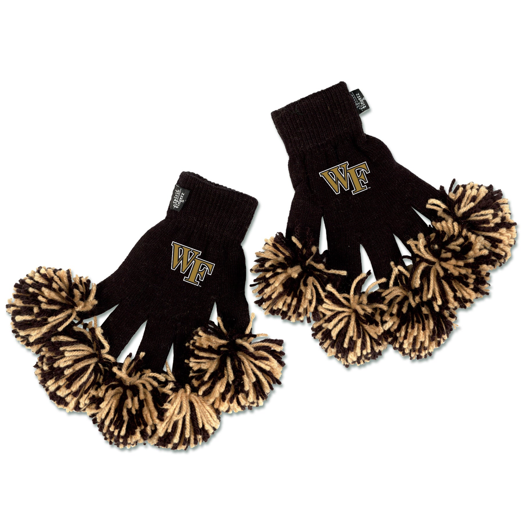Wake Forest Demon Deacons NCAA Spirit Fingerz Cheerleading Pom-Pom Gloves