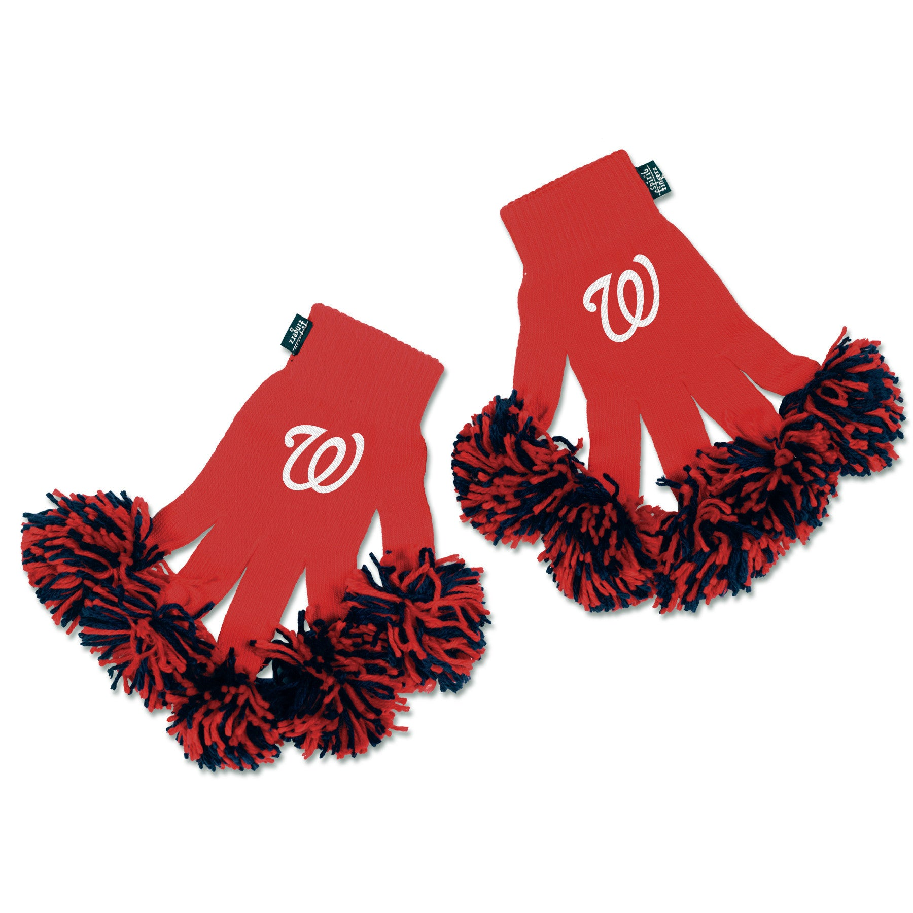 Washington Nationals MLB Spirit Fingerz Cheerleading Pom-Pom Gloves