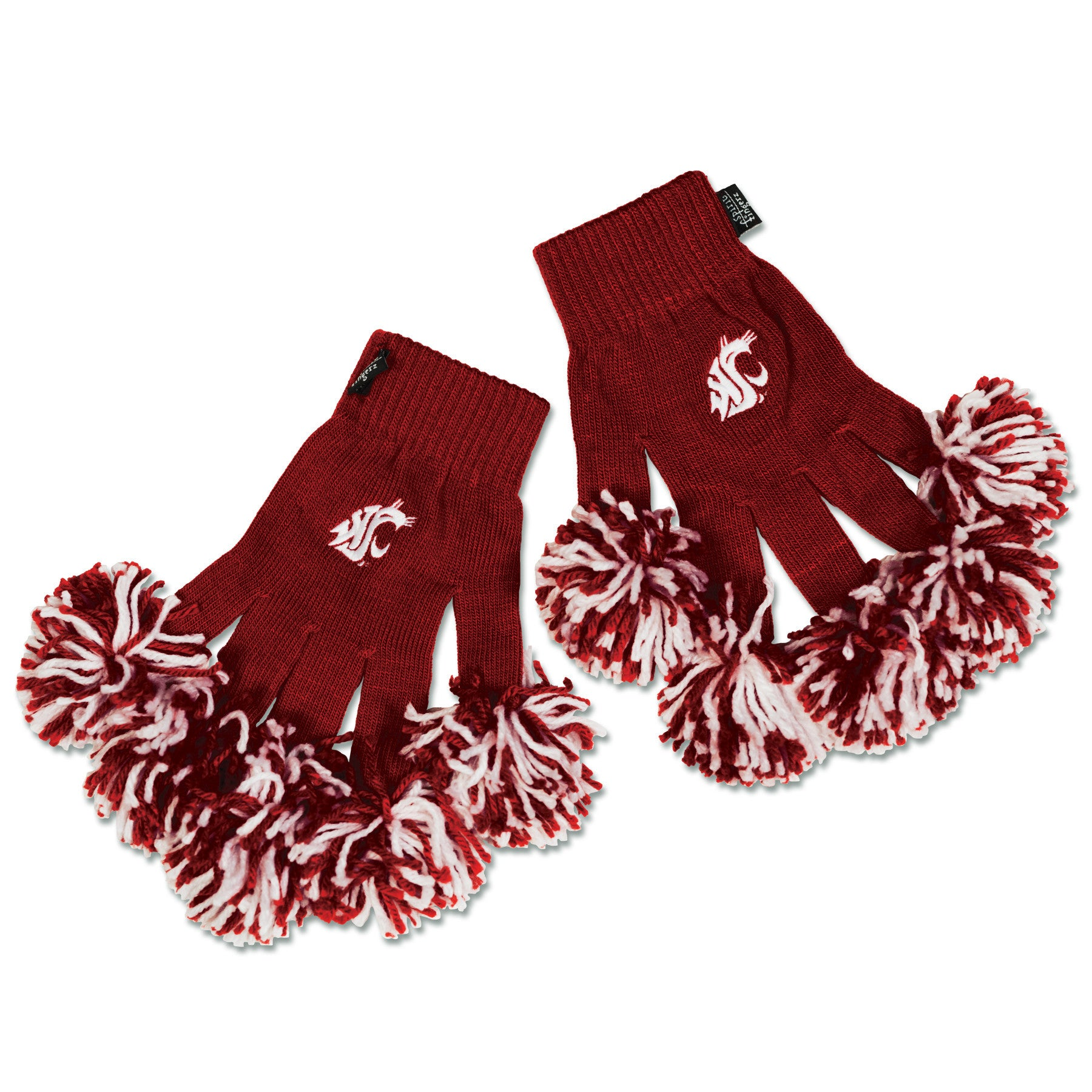 Washington State Cougars NCAA Spirit Fingerz Cheerleading Pom-Pom Gloves