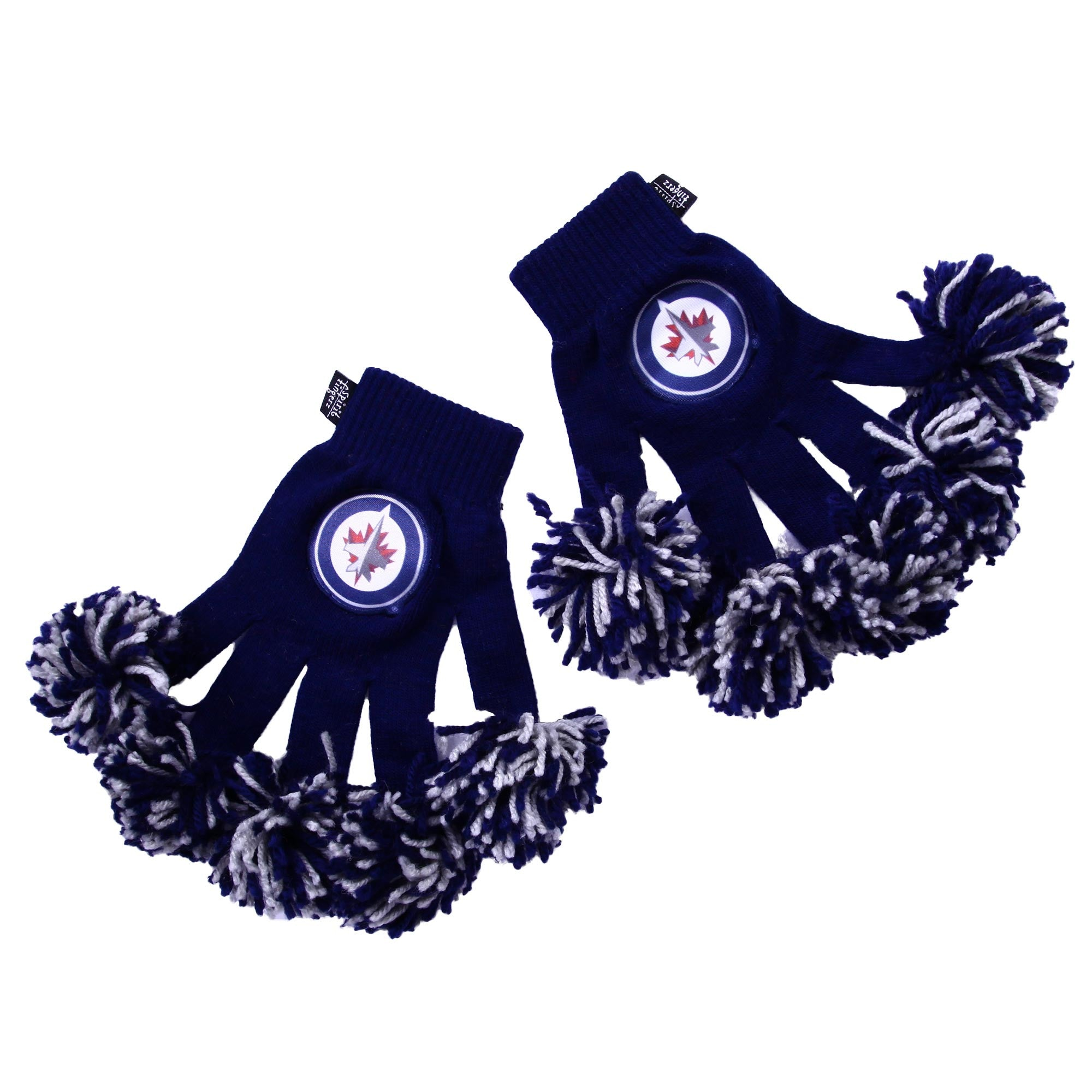 Winnipeg Jets NHL Spirit Fingerz Cheerleading Pom-Pom Gloves