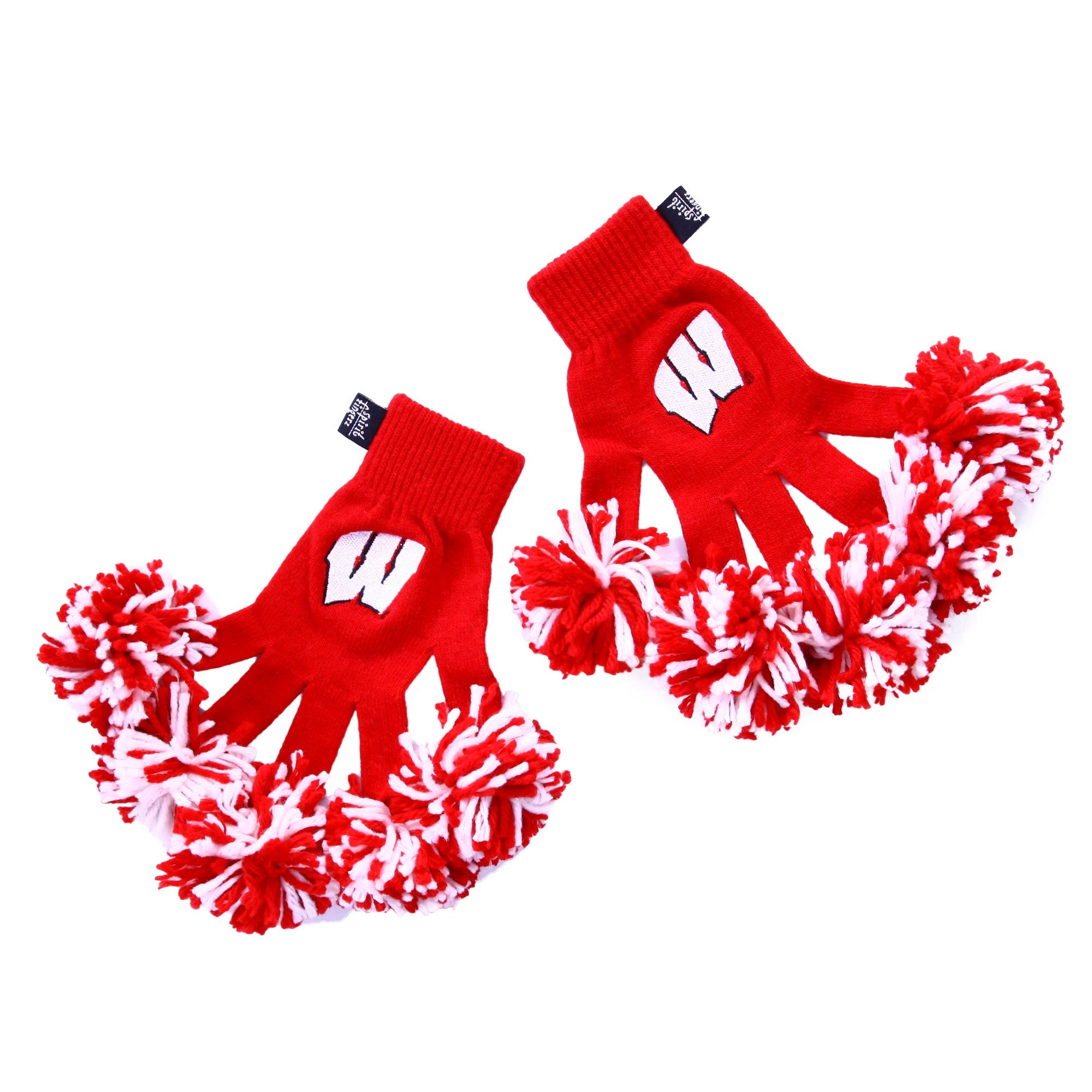 Wisconsin Badgers NCAA Spirit Fingerz Cheerleading Pom-Pom Gloves