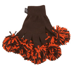 Brown & Orange Spirit Fingerz Cheerleading Pom-Pom Gloves