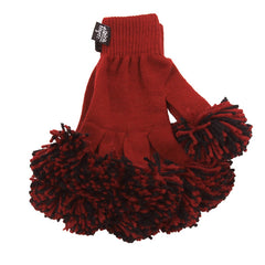 Cardinal & Black Spirit Fingerz Cheerleading Pom-Pom Gloves