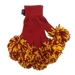 Cardinal & Gold Spirit Fingerz Cheerleading Pom-Pom Gloves