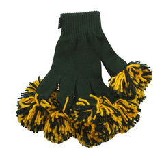 Dark Green & Gold Spirit Fingerz Cheerleading Pom-Pom Gloves