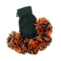 Dark Green & Orange Spirit Fingerz Cheerleading Pom-Pom Gloves