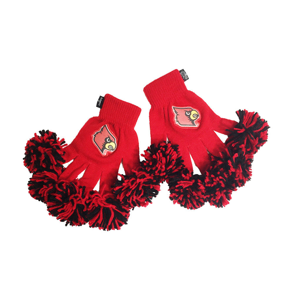 Louisville Cardinals NCAA Spirit Fingerz Cheerleading Pom-Pom Gloves