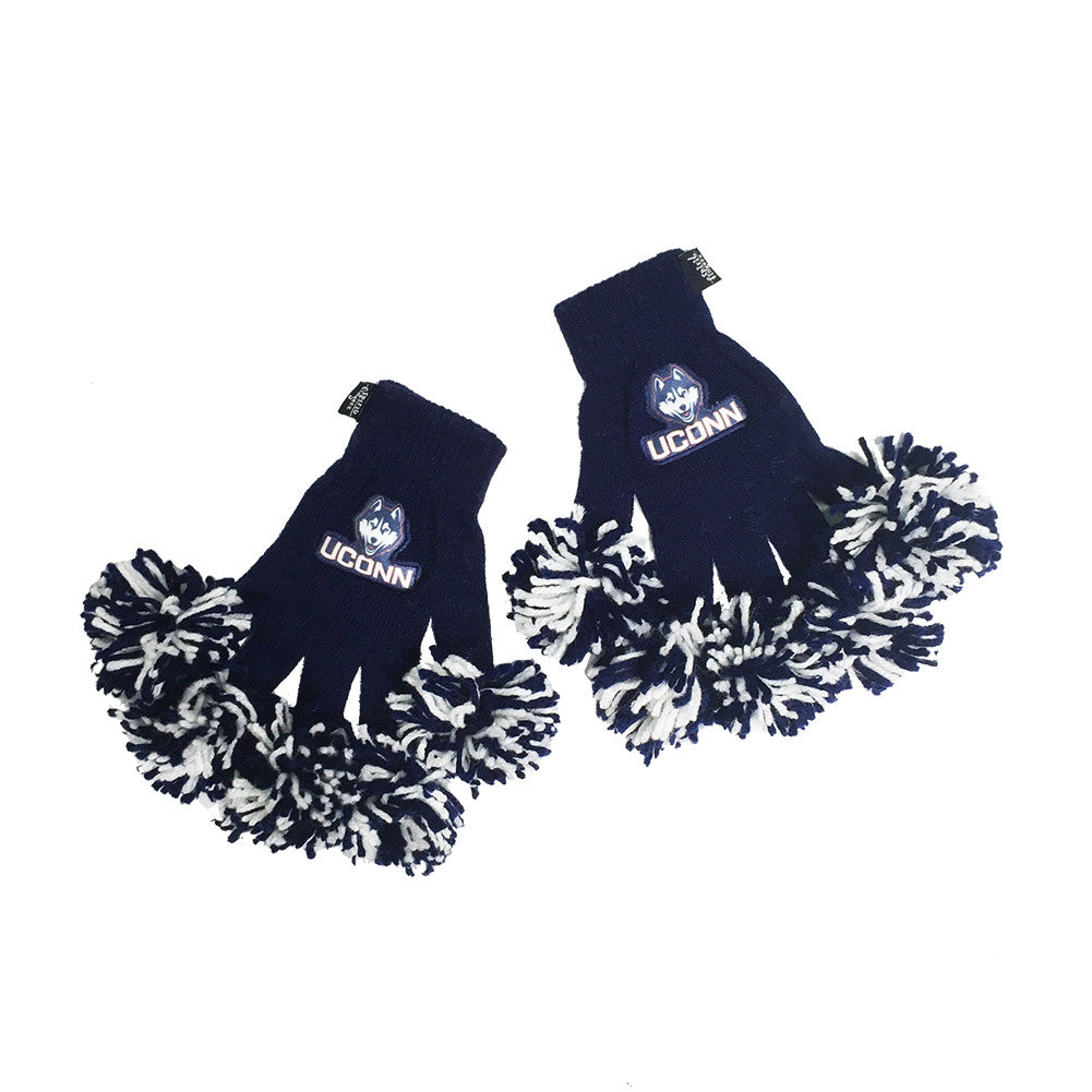 UConn Huskies NCAA Spirit Fingerz Cheerleading Pom-Pom Gloves