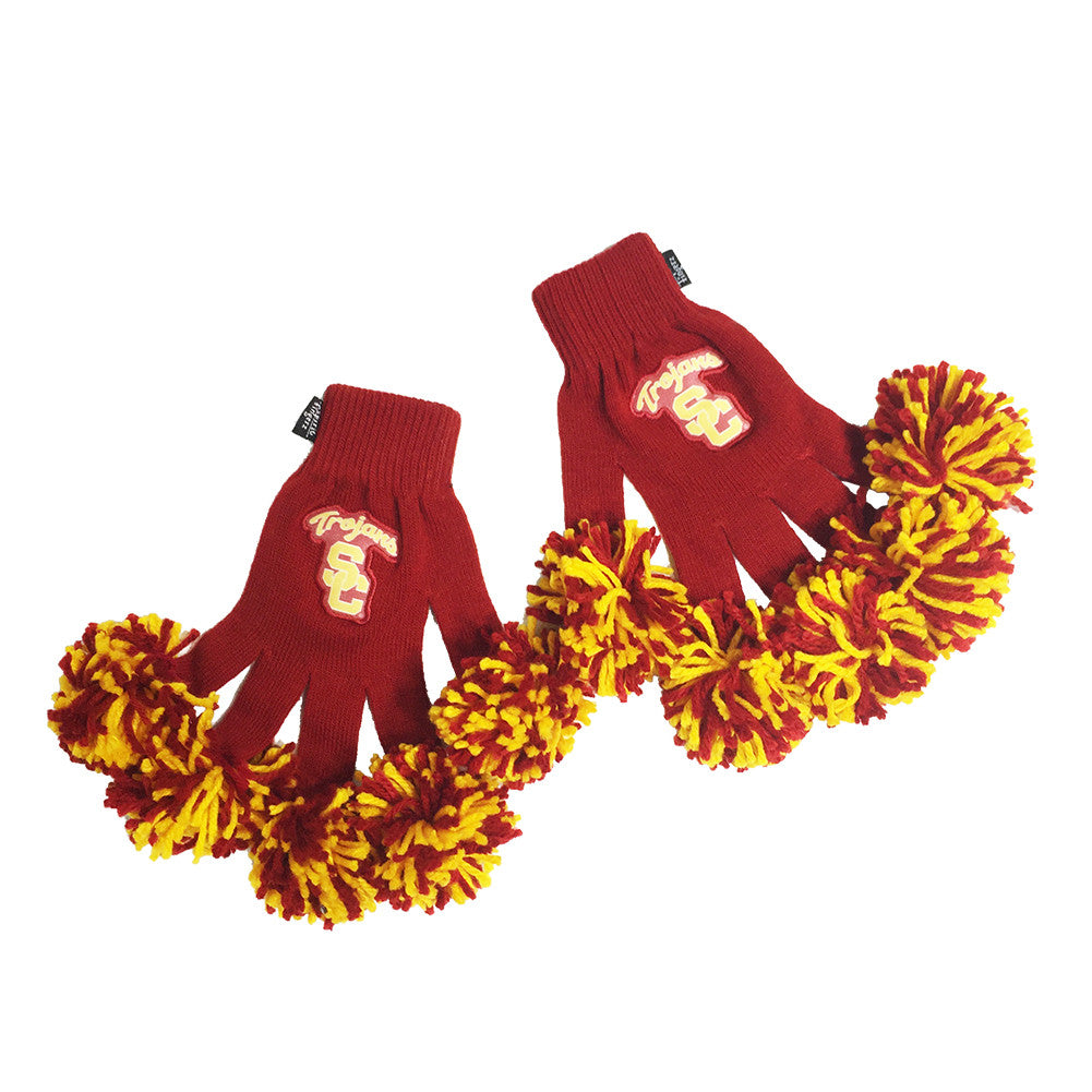 USC Trojans NCAA Spirit Fingerz Cheerleading Pom-Pom Gloves