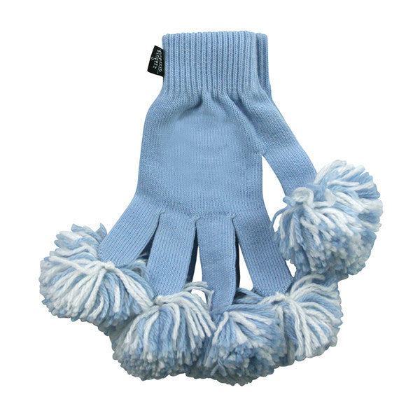 Light Blue & White Spirit Fingerz Cheerleading Pom-Pom Gloves
