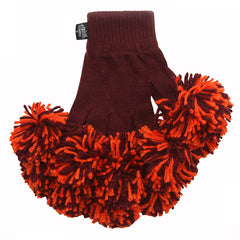 Maroon & Orange Spirit Fingerz Cheerleading Pom-Pom Gloves