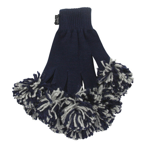 Navy & Ash Spirit Fingerz Cheerleading Pom-Pom Gloves