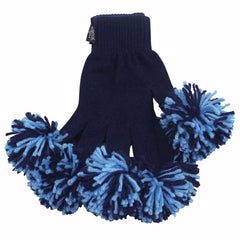 Navy & Light Blue Spirit Fingerz Cheerleading Pom-Pom Gloves
