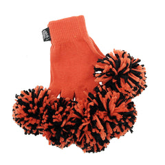 Orange & Black Spirit Fingerz Cheerleading Pom-Pom Gloves