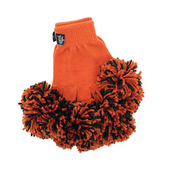 Orange & Brown Spirit Fingerz Cheerleading Pom-Pom Gloves